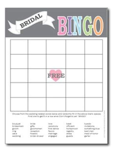 bridal shower bingo card template free printable bridal bingo template bridal shower bingo