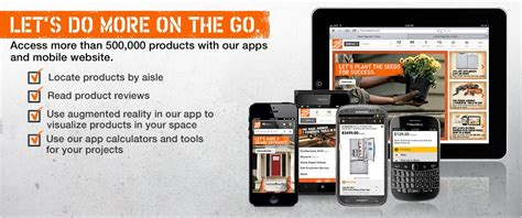 experience the power of mobile shopping at the home depot