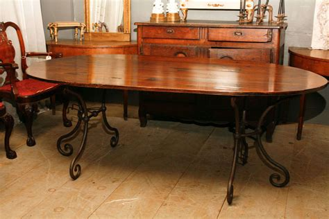 Century Furniture Dining Room Metal Base Dining Table With Glass Top 55a 307 Louis Shanks Oval Metal Base Dining Table At 1stdibs