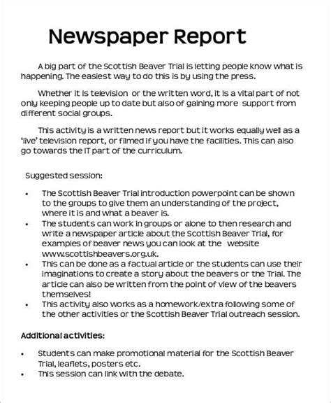 newspaper report 42 amazing newspaper templates sle templates