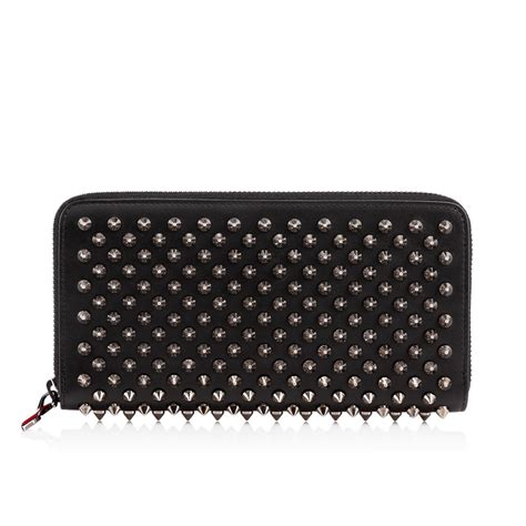 Christian Louboutin Panettone Wallet Review by Christian Louboutin Panettone Zipped Continental Wallet In Black Lyst