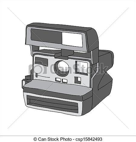 vintage polaroid camera clipart (53+)
