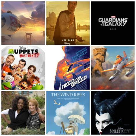 film disney hiver 2014 2014 disney movie slate muppets marvel maleficent and more