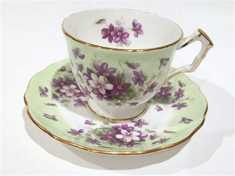aynsley tea cup and saucer violet cup tea set antique tea