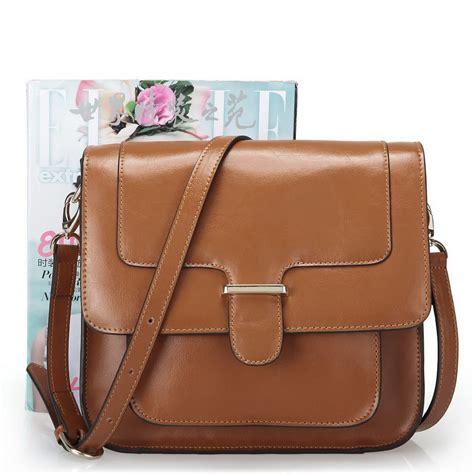 brown leather messenger bag cowhide leather messenger bag brown