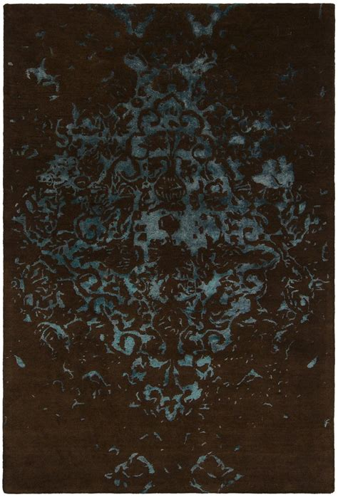 Teal And Brown Area Rugs Veleno Collection Tufted Area Rug In Brown Teal Design By Chand Burke Decor