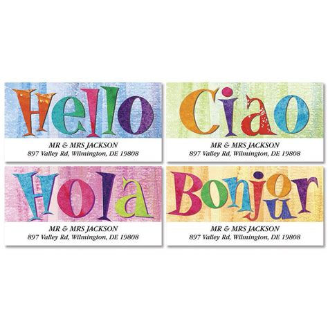 colorful images address labels hello deluxe return address labels colorful images