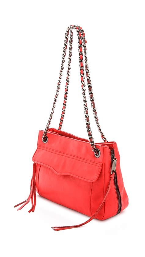 swing bag rebecca minkoff swing bag hot red in red lyst