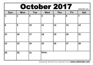 Fall Calendar Template by October 2017 Calendar Templates Caleendar