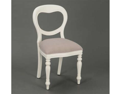 Chaise Medaillon Blanche by Chaise M 233 Daillon Blanche Romantique