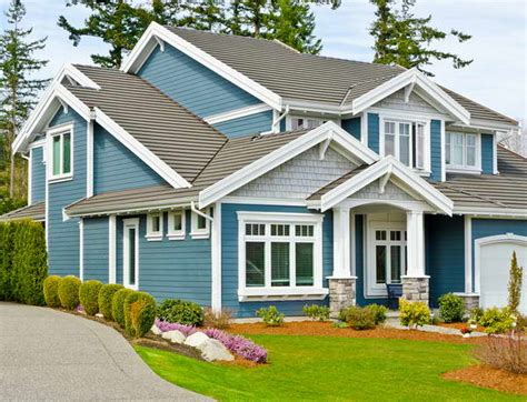 exterior paint colors for house with blue roof bloombety some types of siding on house with blue color