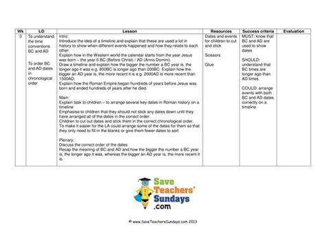 biography chronological order ks2 roman timeline lesson plan worksheet by