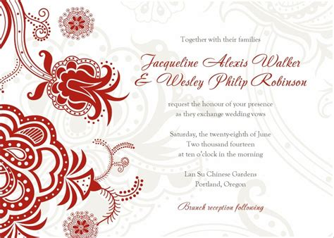 invitation word templates free wedding invitation