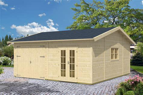 gartenhaus garage garage skanholz 171 mora 3 187 einzelgarage 45 mm holzgarage
