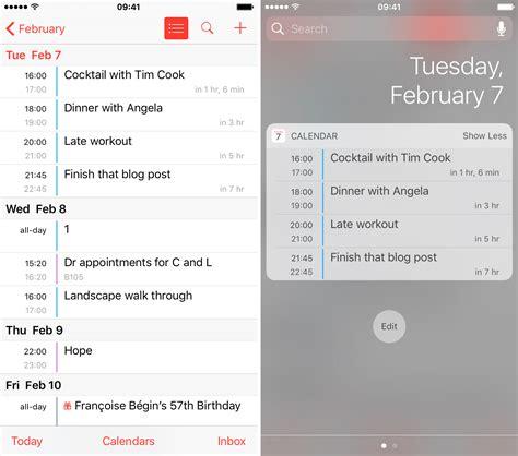 display calendar list view widget