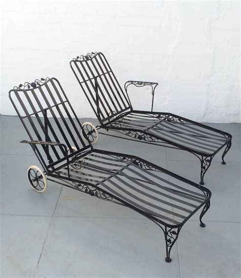 wrought iron chaise wrought iron lounge chaise for two designed by russell