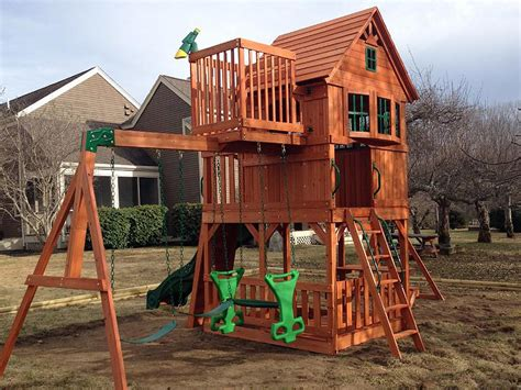 skyfort ii cedar swing set playset assembler and swing set installer in hton falls