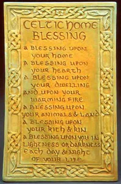 celtic home blessing plaque midnight moon for home and