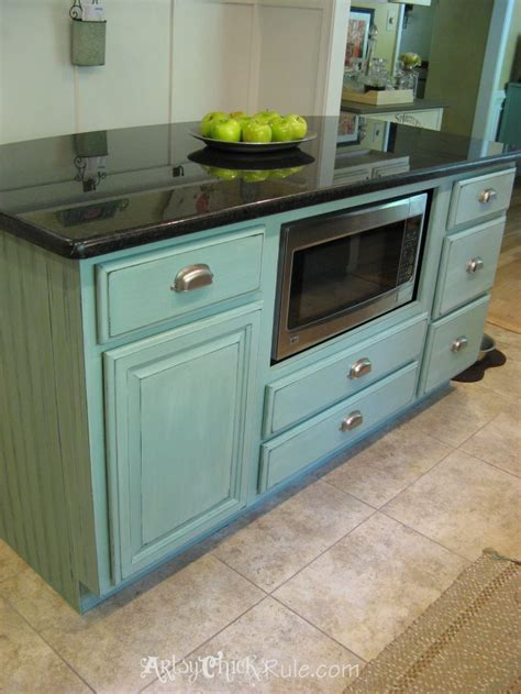 painted kitchen island with annie sloan chalk paint white kitchen island makeover duck egg blue chalk paint
