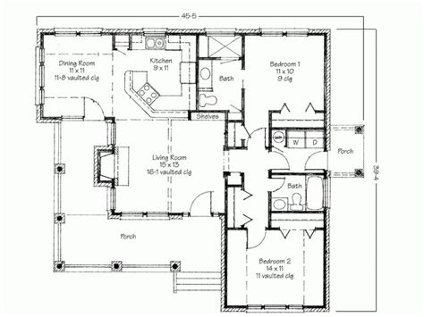 simple house plans with porches simple two bedrooms house plans for small home