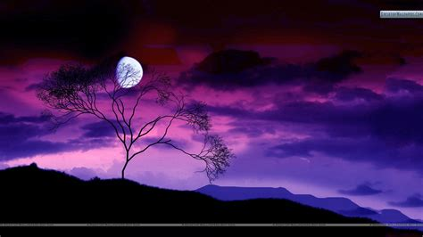 colorful moon wallpaper colorful night scene with moon wallpaper