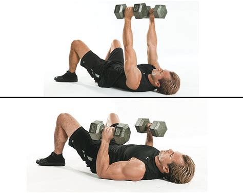 dumbbell bench press on the floor fitnes