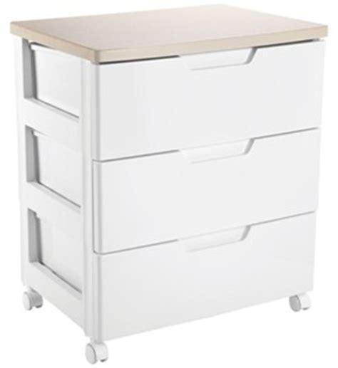 Iris Plastic Drawers by Iris Top Three Drawer Storage Chest White In