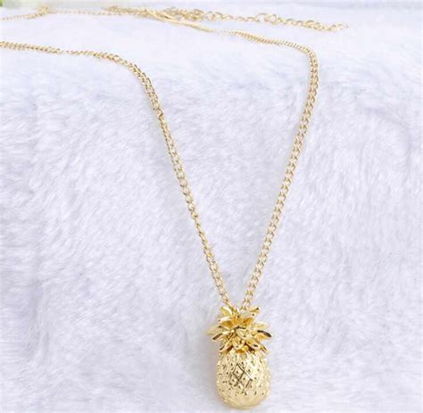 8 Pretty Necklaces For Summer by Aliexpress Buy Tiny Pineapple Fruit Charm