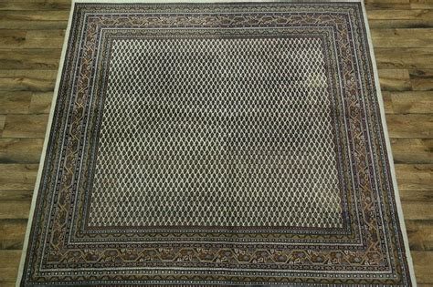 square area rugs 8x8 paisley design ivory square 8x8 botemir area rug wool carpet