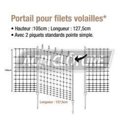 portail electrique 265 portail pour filet 224 volailles vert hauteur 105 cm porte