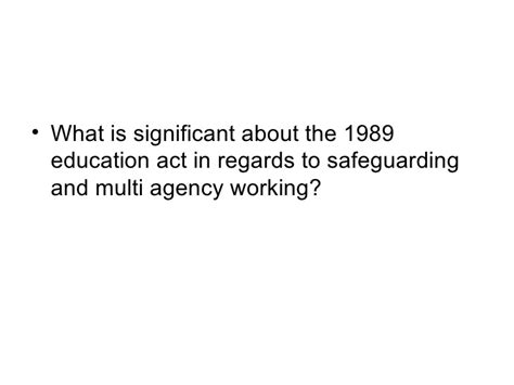 section 7 children s act 1989 safeguarding lecture 1 questions