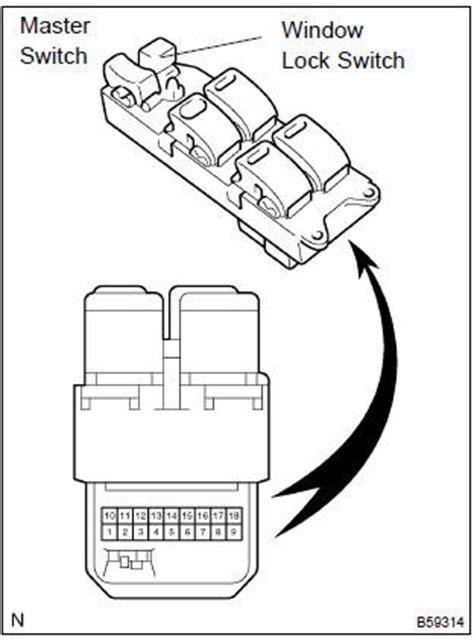 power window master switch for toyota hilux vigo kun26