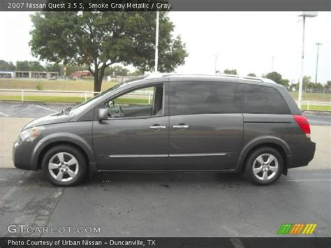 2007 nissan quest 3 5 s smoke gray metallic 2007 nissan quest 3 5 s gray