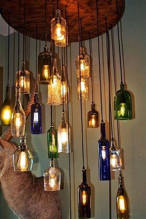 23 Best Images About Bottle Ls On Pinterest Beer Liquor Bottle Chandelier
