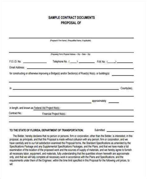 sle business contract forms 9 free documents in word
