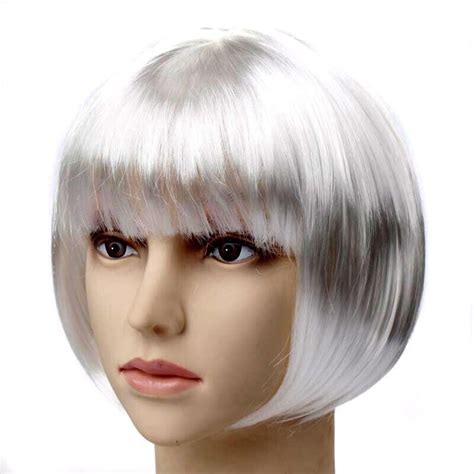halloween short hairstyles halloween party women s short hair straight bob wig 12
