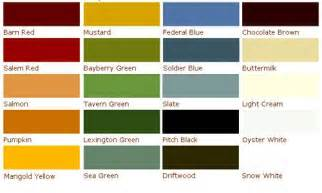 old fashioned milk paint color chart