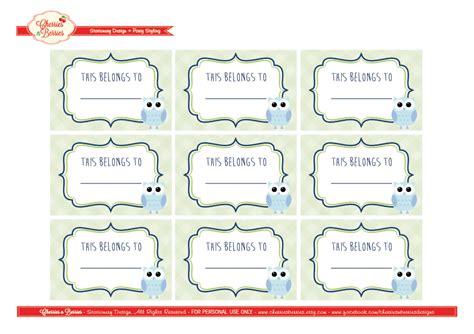 printable school label templates 10 best images of back to school printables labels back