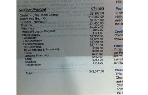 cost of c section without insurance viral photo see the hospital bill for child birth that
