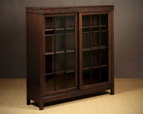sliding door bookcase c 1920 323517 sellingantiques co uk