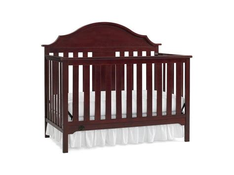 Side Crib by Serta Hanover Fixed Side Convertible Crib Classic Cherry