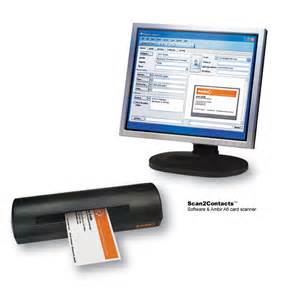 business card reader for outlook ambir technology announces only solution to scan business