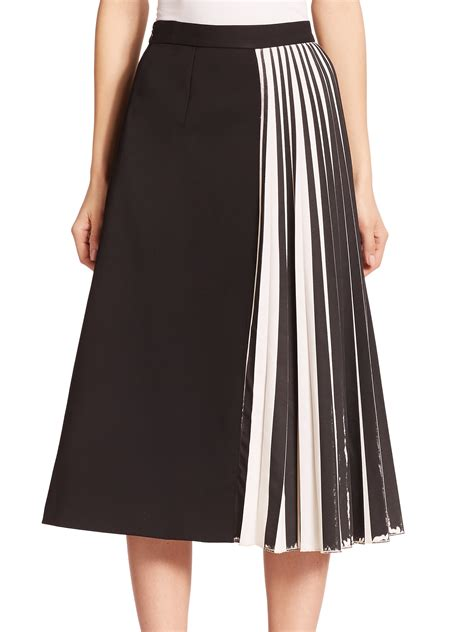 Panel Skirt lyst proenza schouler pleated panel suiting skirt in black