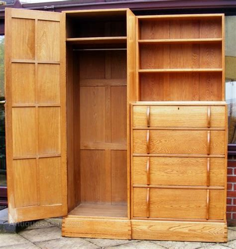 Chest Of Drawers Wardrobe Combination by An Oak Combination Wardrobe And Chest Of Drawers