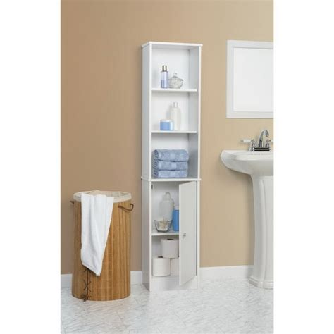 Slim White Bathroom Cabinet Fashionably Multi Functional Bathroom Towel Cabinets Abpho