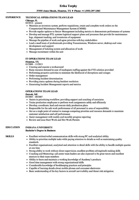 sales team leader resume sample best format