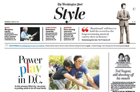 Washington Post Sections by Style Section Newspaper In Education