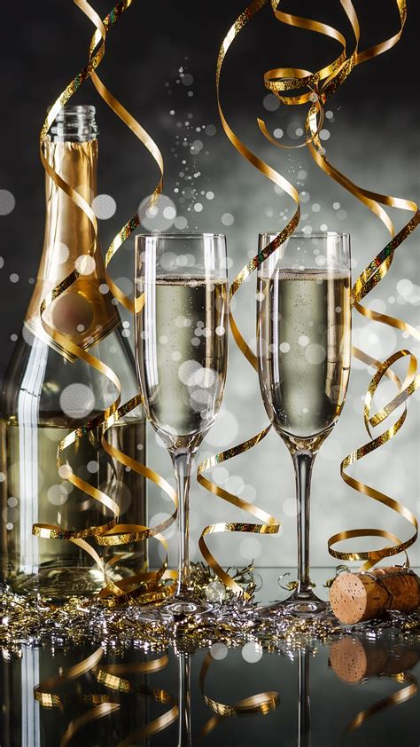 wallpaper christmas  year champagne  holidays