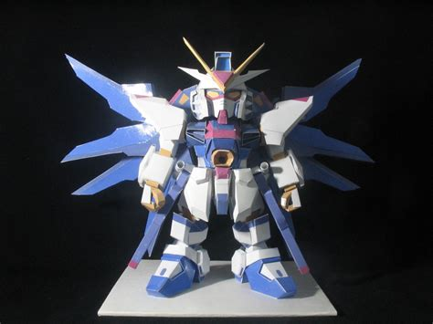 Sd Gundam Papercraft - sd strike freedom gundam papercraft by zeihn on deviantart