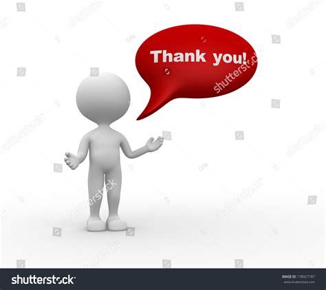 bobble person 3d person thank stock illustration